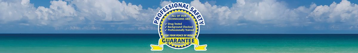 Professional Plumbing & Design's Professional Safety Guarantee. All of our technicians are drug tested, background checked, and professionally trained for your peace of mind.