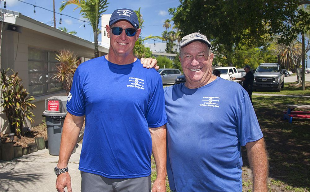 Matt and Ted Wittman of Professional Plumbing & Design at the 2019 Friendliest Catch tournament.